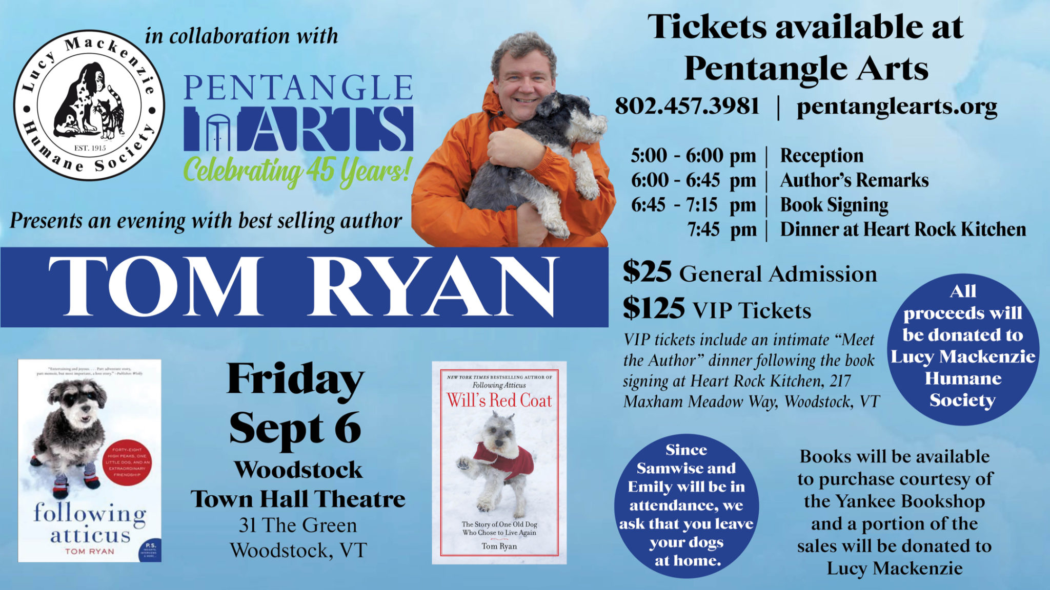 Event Details for Author Presentation with Tom Ryan
